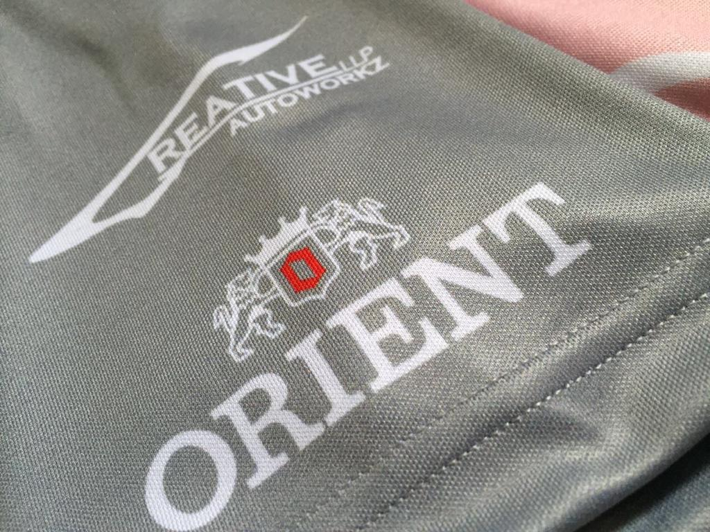 t-shirt printing with orient logo